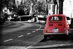 Der rote Fiat 500