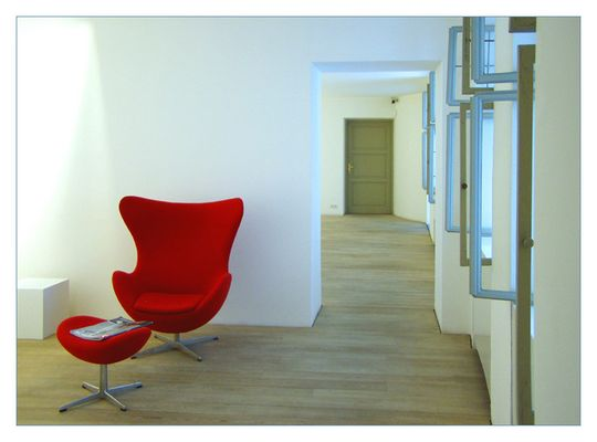 Der rote Sessel...
