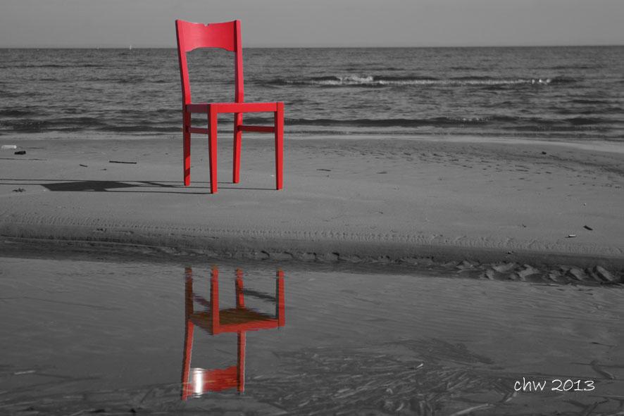 Der rote Stuhl .....