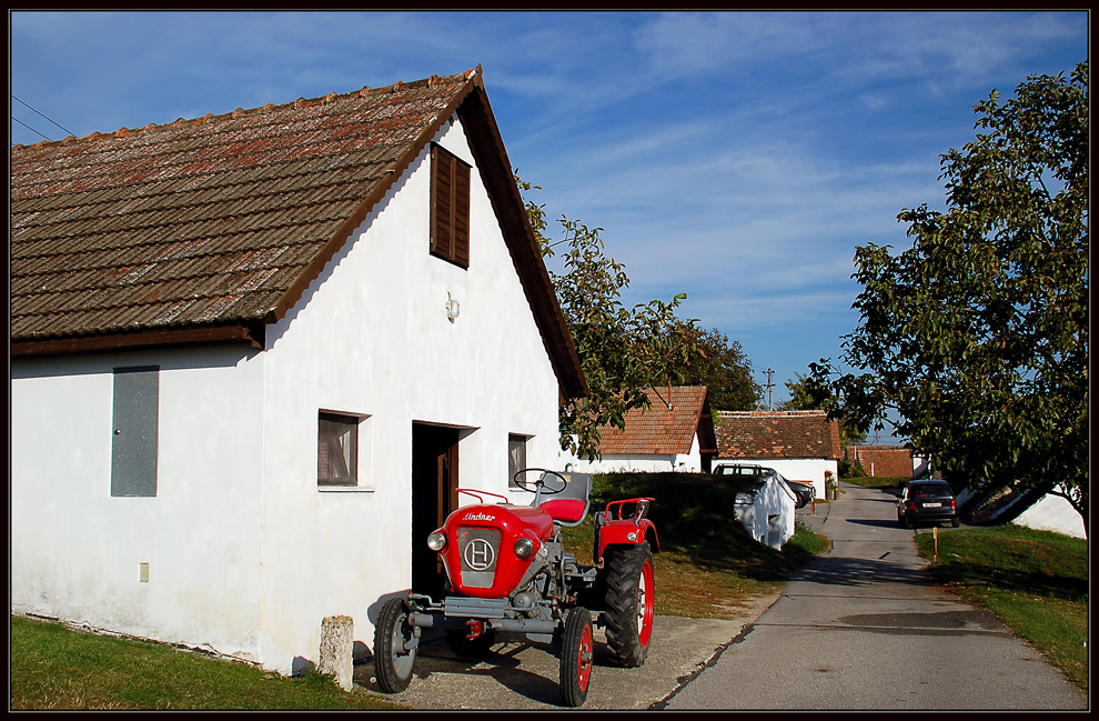Der rote Traktor...