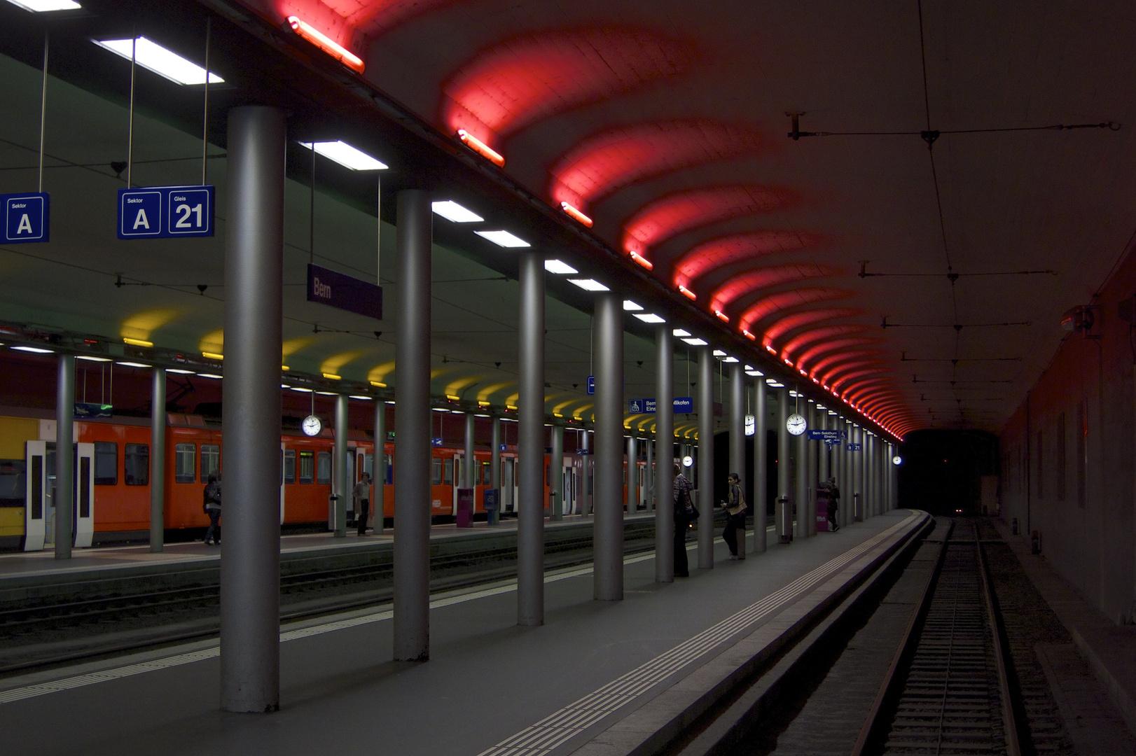 Der Rotlicht-Bahnhof in Bern