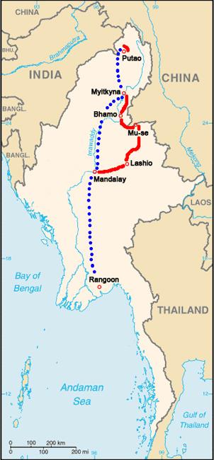 Der Routenplan 2009