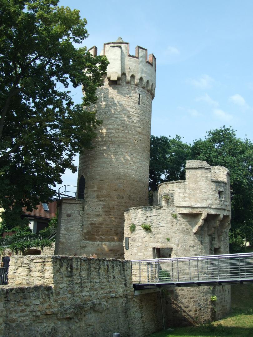 Der schiefe Turm von Jena, der Pulverturm