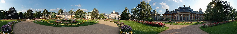 Der Schloßgarten von Schloß Pillnitz