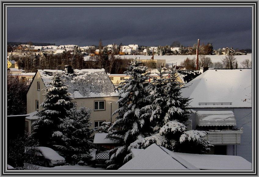 Der Schnee ist gekommen....
