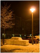 Der Schnee-Trabi ...