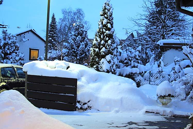 Der Schnee wird immer mehr