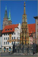 Der Schöne Brunnen in Nürnberg - ohne Touristen!