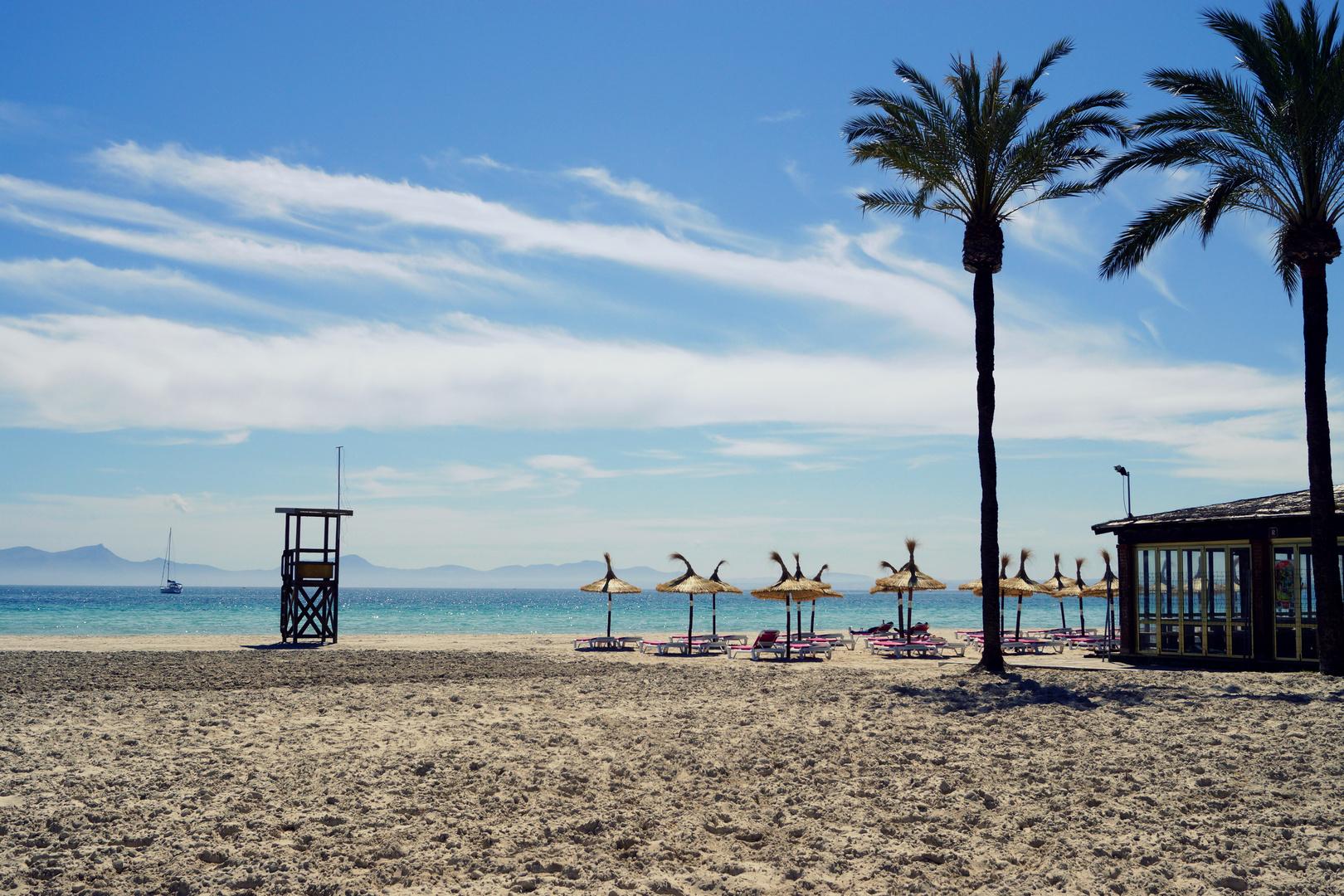 Der schöne Strand von Alcudia