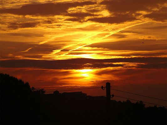 ..der schönste Sonnenuntergang an dem Abend dort... ;-)