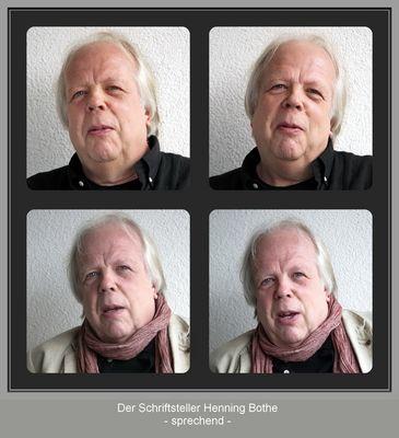 """Der Schriftsteller Henning Bothe """"sprechend"""""""
