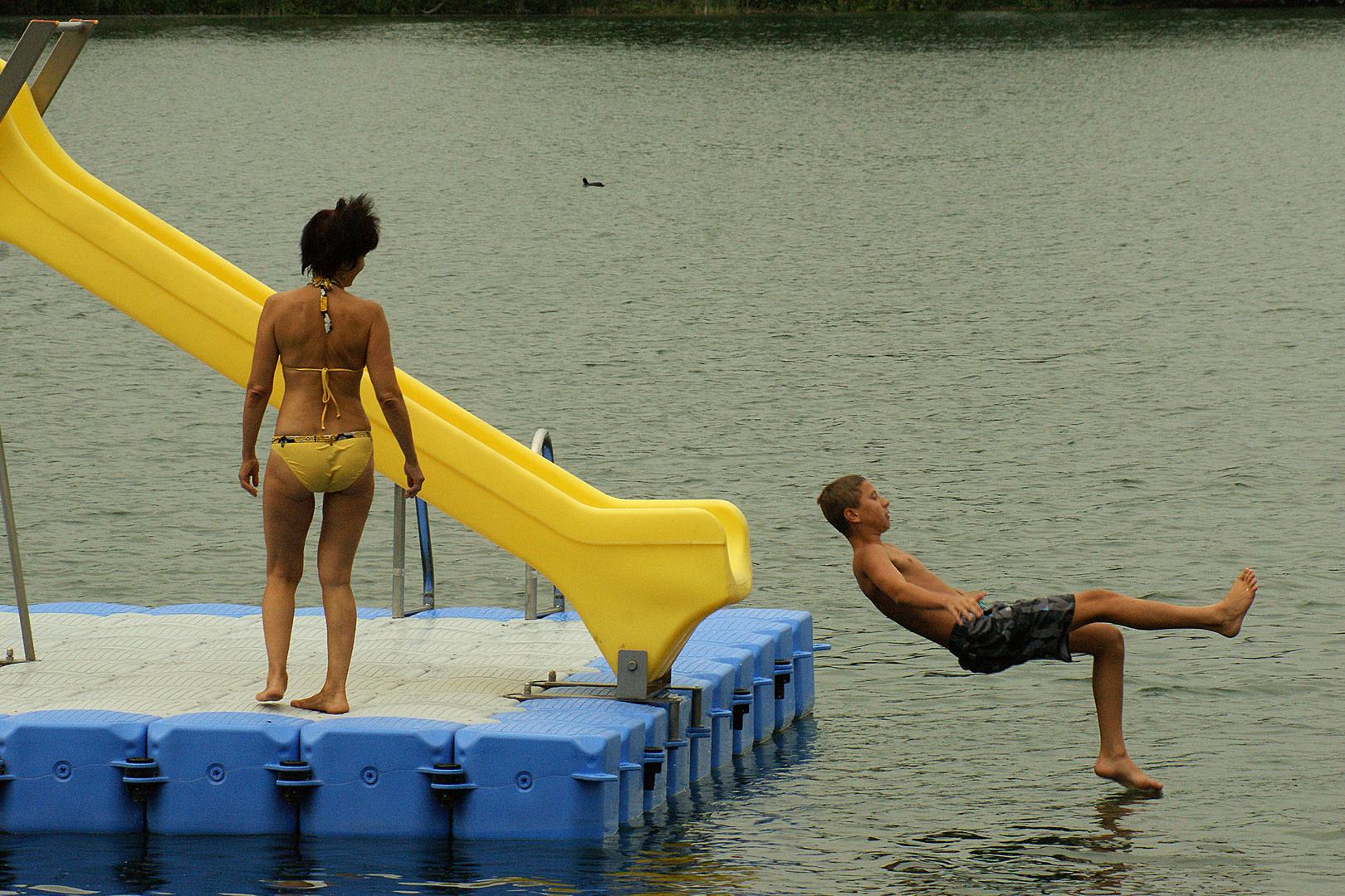 Der Schritt ins Wasser
