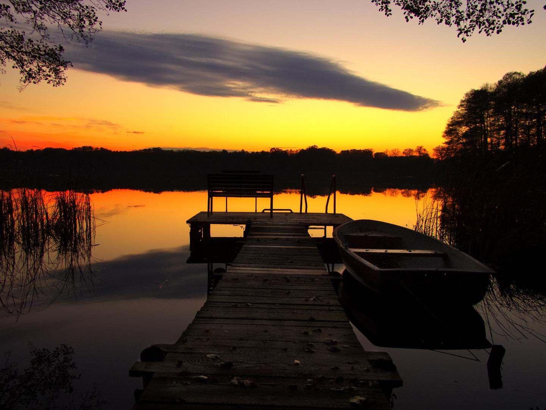 Der See an dem Zesch liegt