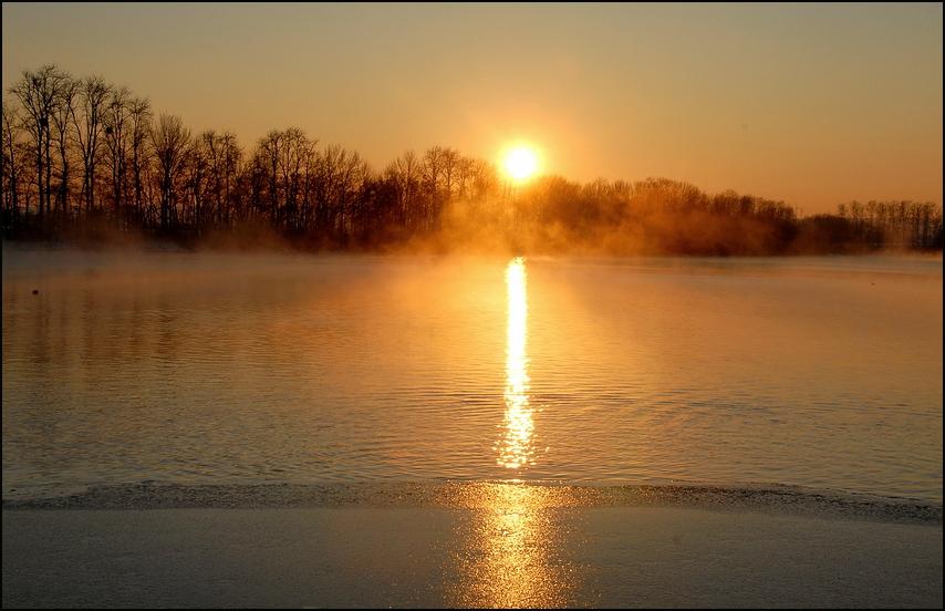 Der See dampft.....
