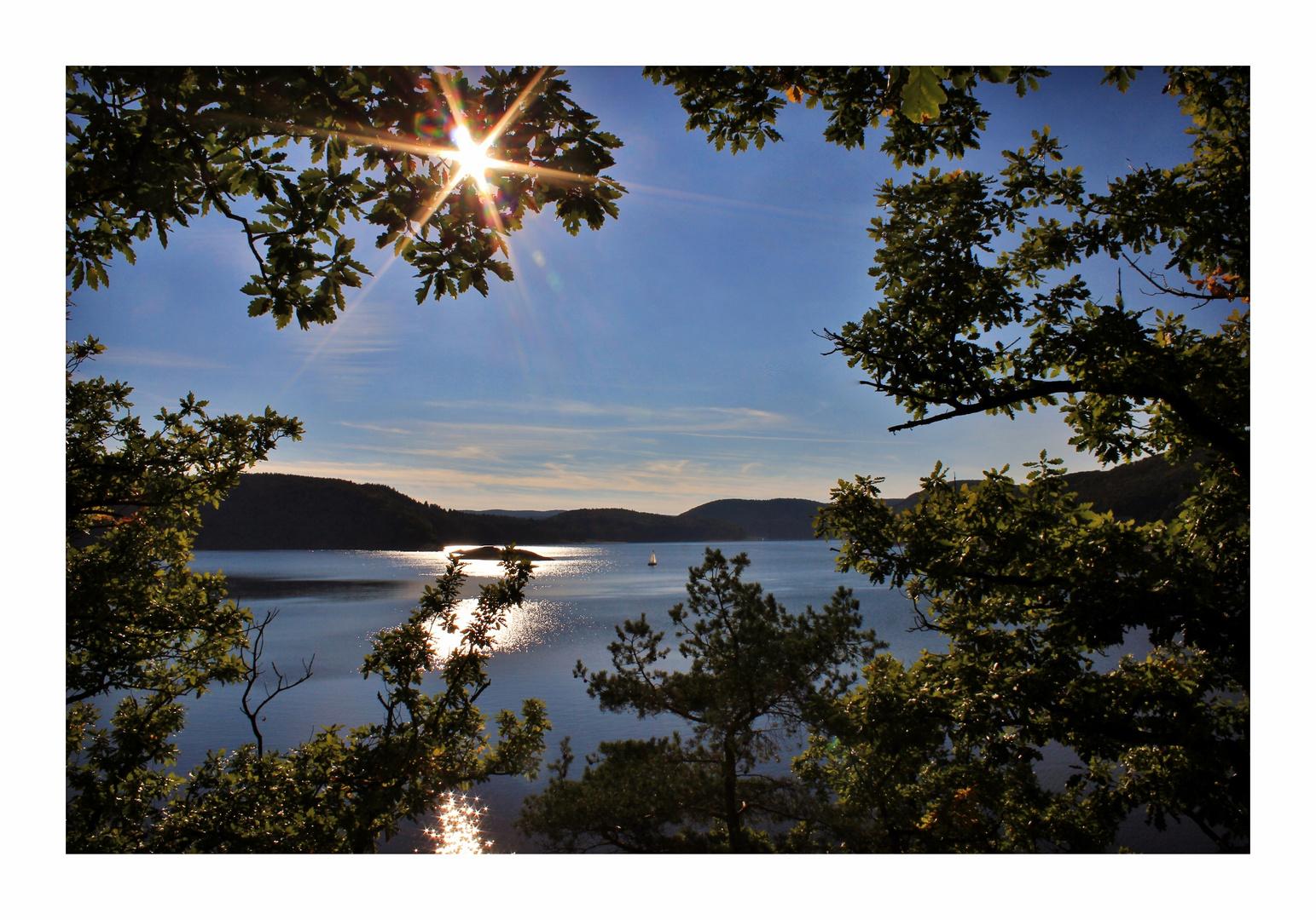 Der Segler auf dem Silbersee