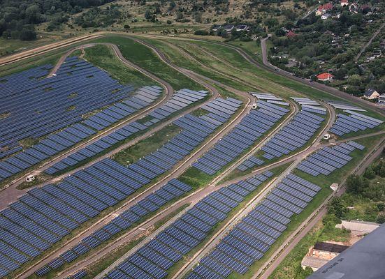 Der Solarpark Magdeburg...