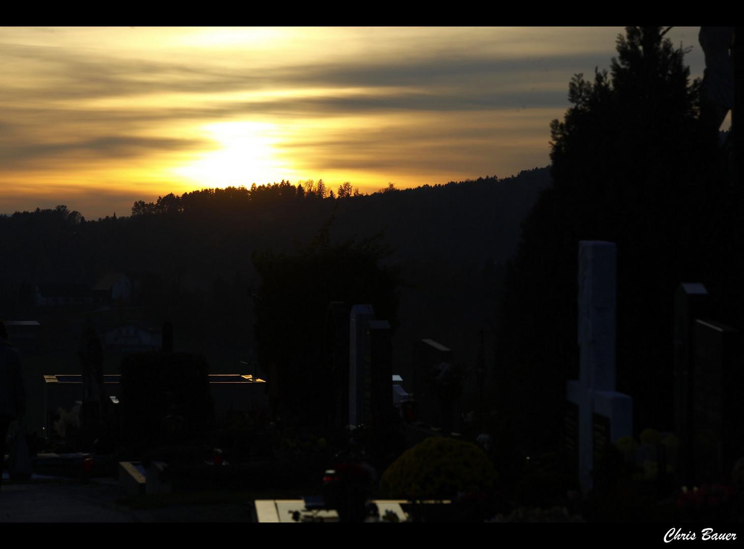 Der Sonnenuntergang ist ein Lehrstück für viele Untergänge.