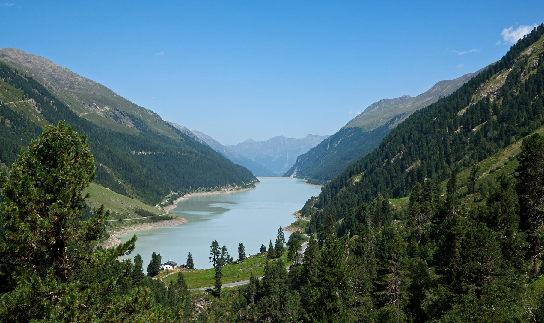 der Speicher-See Kaunertal