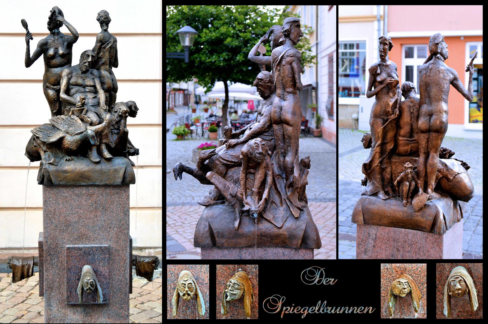 Der Spiegelbrunnen in der Fußgängerzone von Heilbad Heiligenstadt