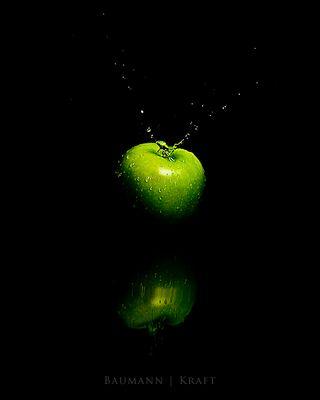 Der spritzige Apfel