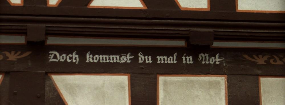 Der Spruch am Zehnthaus (3 von 4)