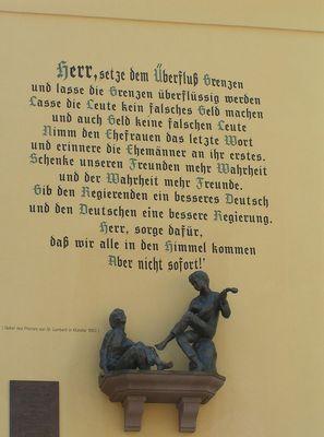 Der Spruch an der Wand