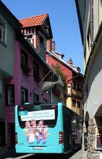Der Stadtbus Lindau in der Ludwigstraße