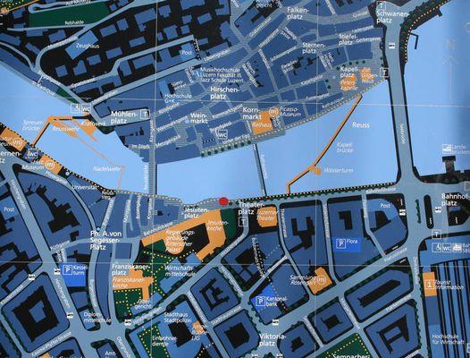 Der Stadtplan und zwei Stunden später...