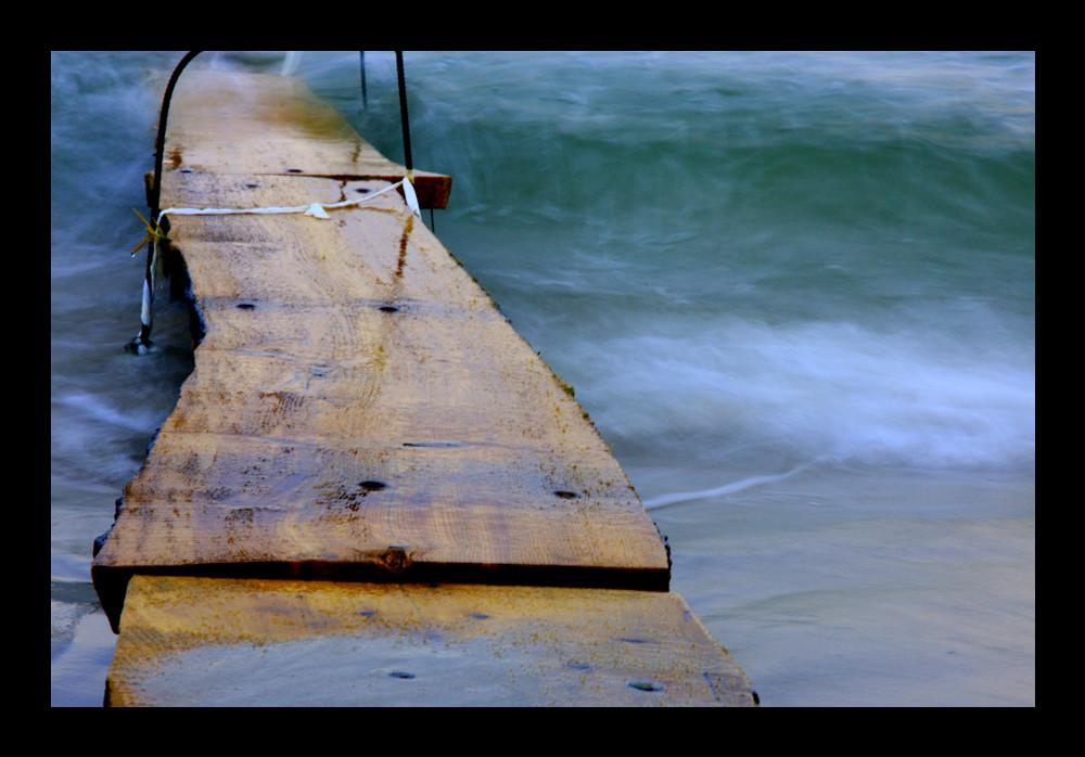 Der Steg ins Meer
