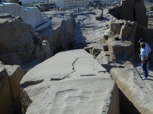 Der Steinbruch in Assuan.