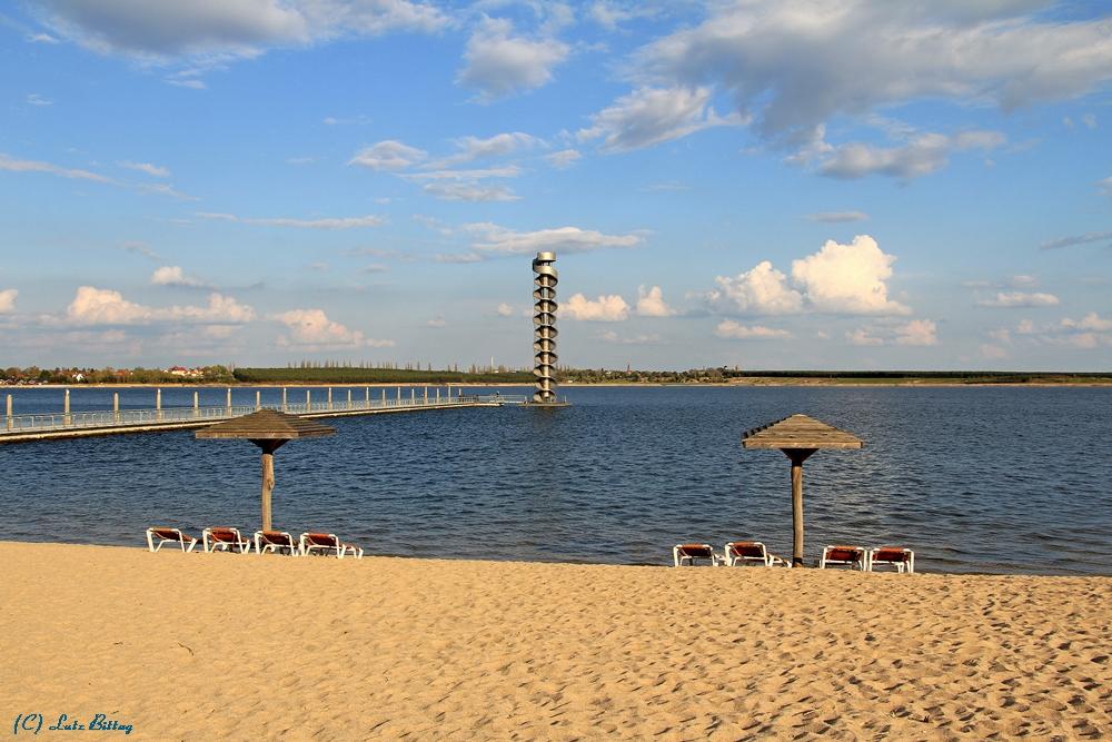 Der Strand der Goitzsche ...