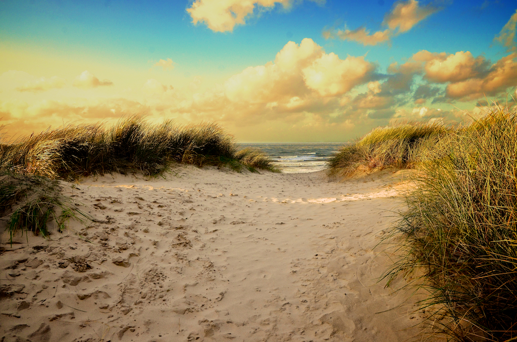 Der Strand in Bredene Flandern Belgien