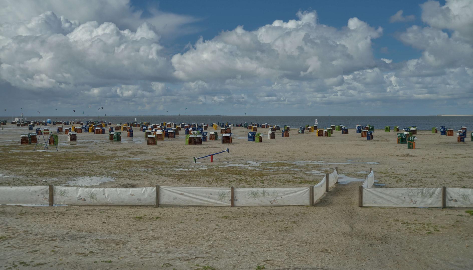 Der Strand in Neuharlingersiel.24.08.2014