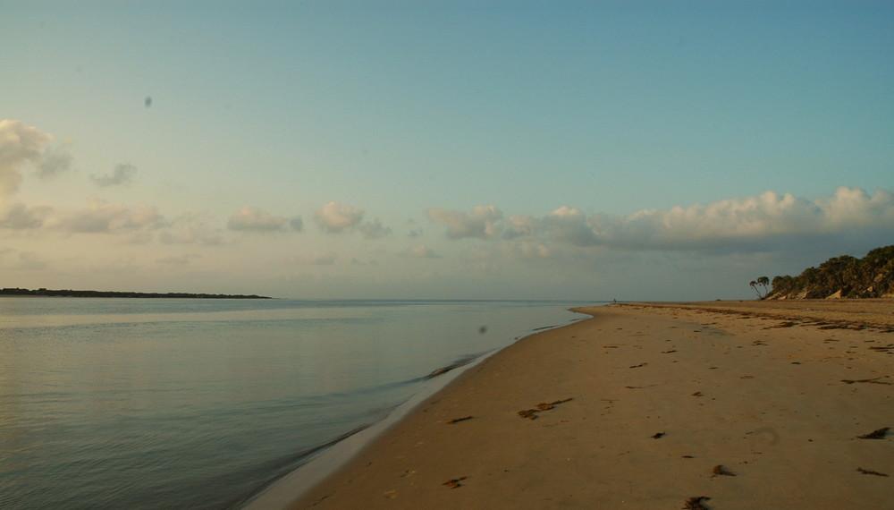 der Strand in Shella