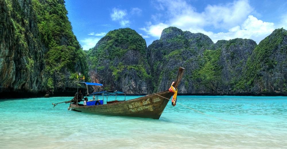 ...Der Strand ist auf einer Insel...