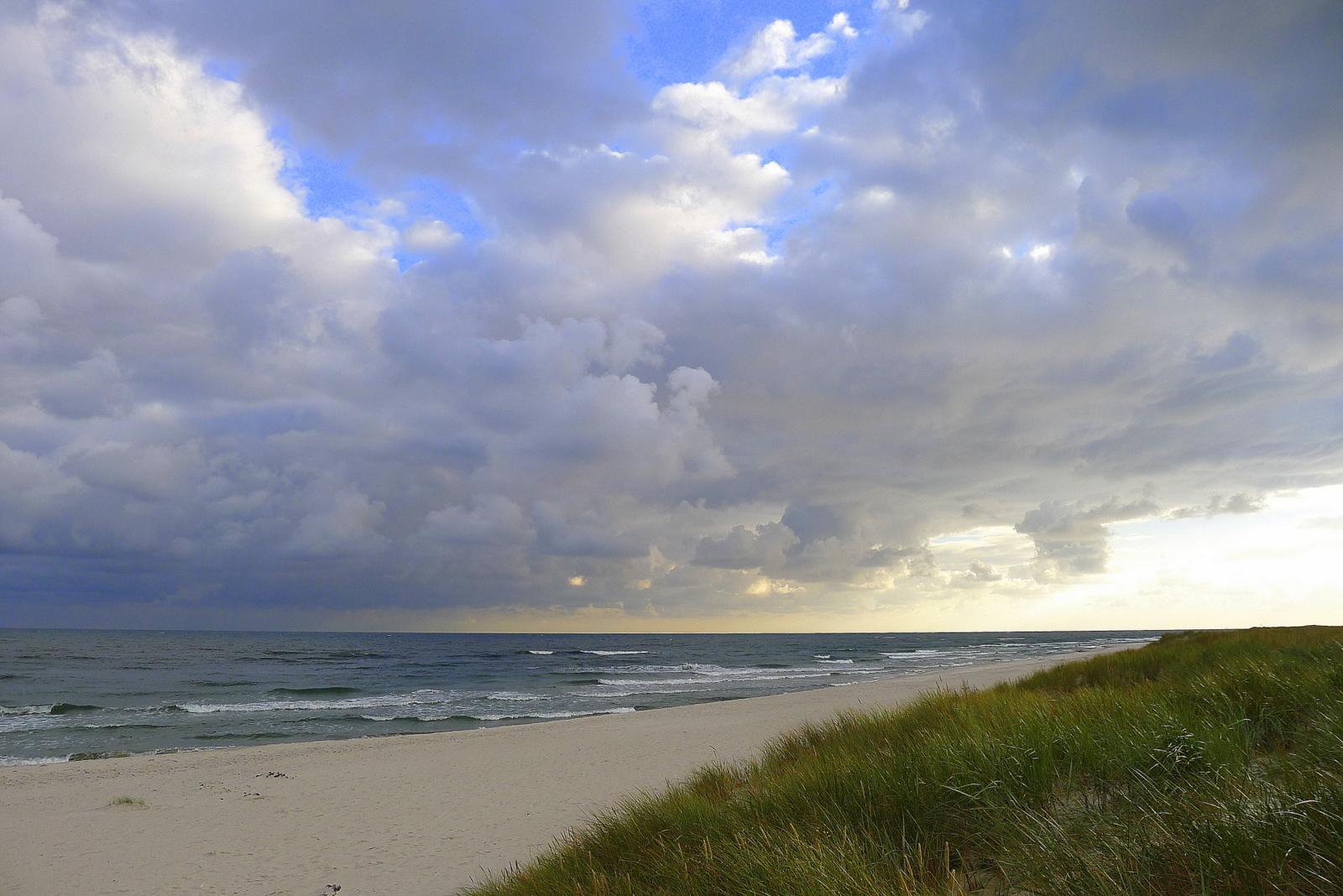 Der Strand ist endlich wieder leer