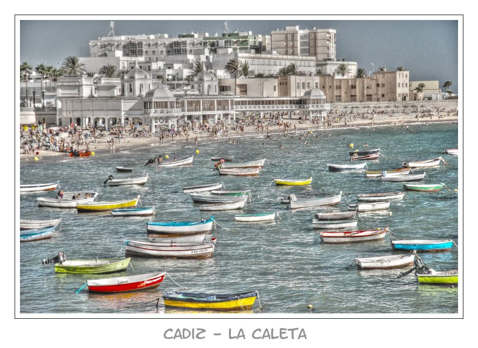 """Der Strand """"La Caleta"""" in Cadiz"""