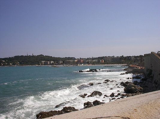 Der Strand von Antibes(Frankreich am Mittelmeer)