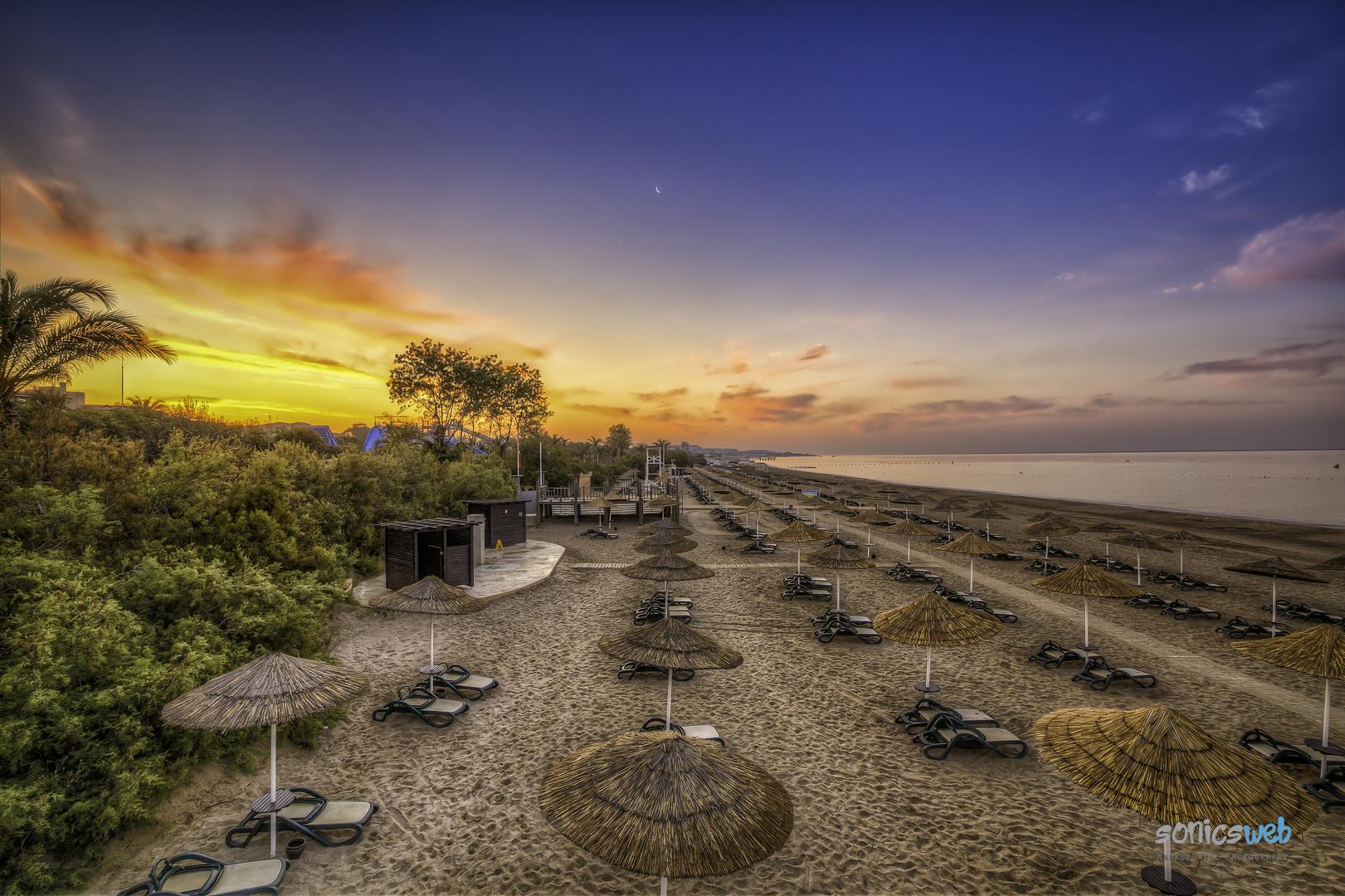 Der Strand wacht auf....