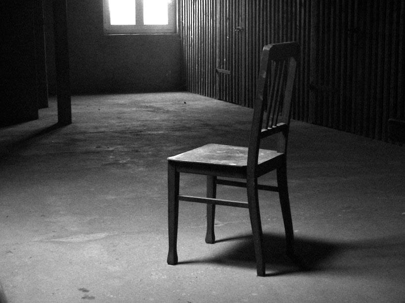 Der Stuhl im Lich