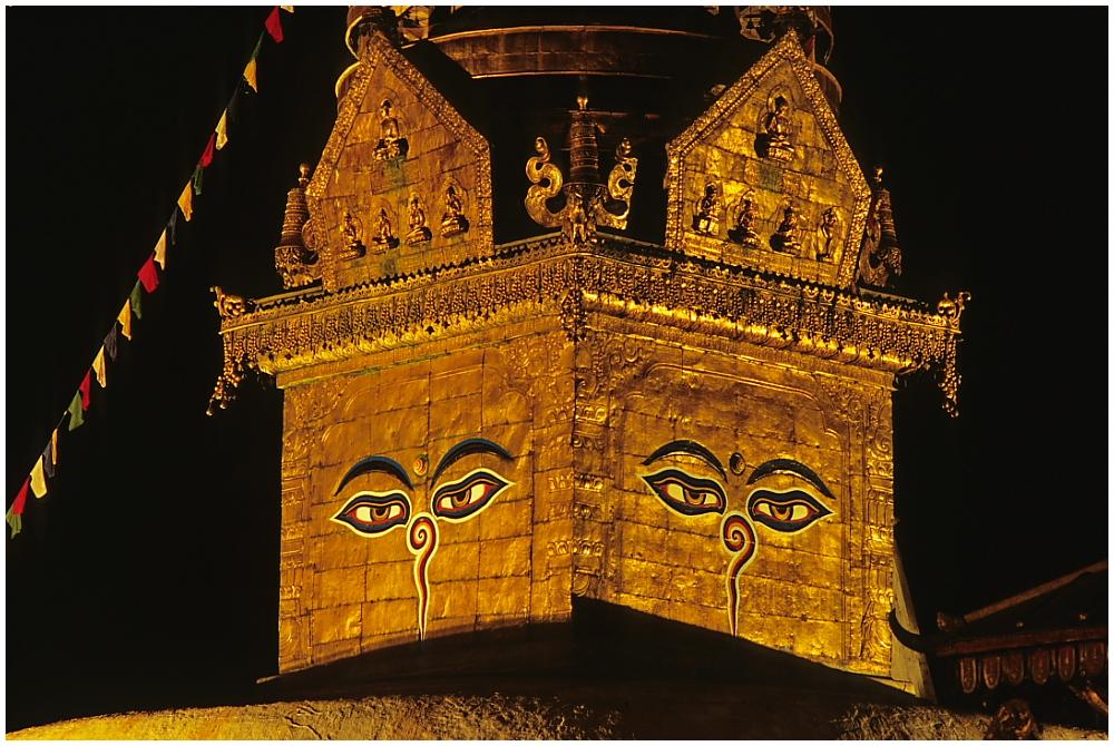Der Stupa von Swayambhunath