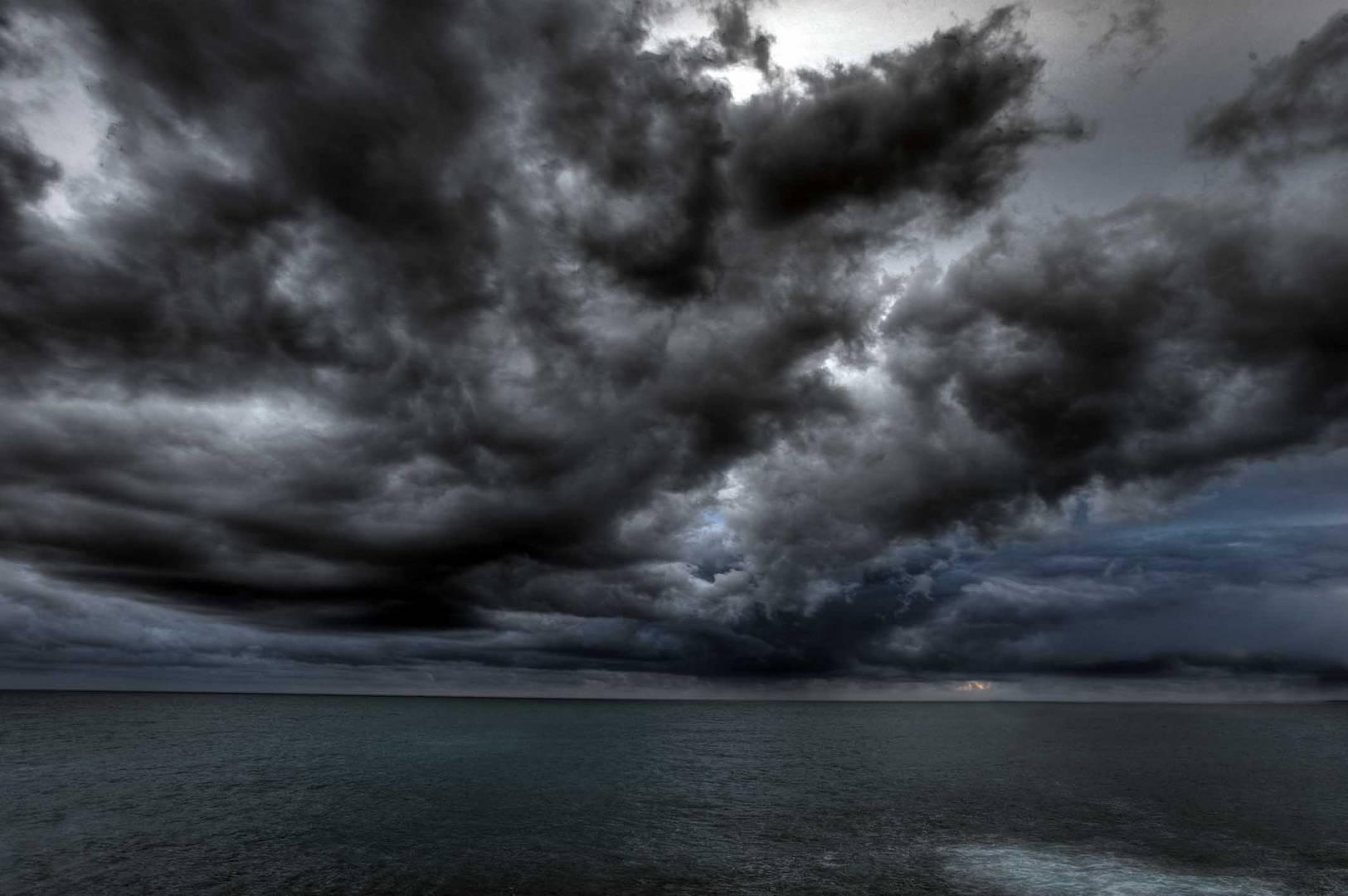 Der Sturm reinigt die See