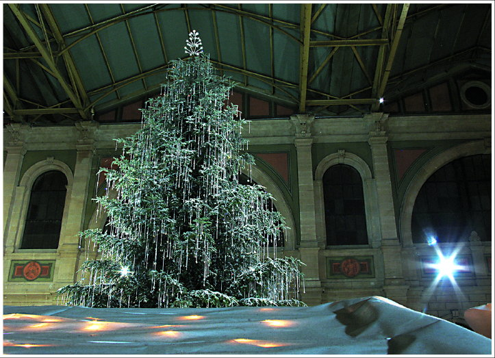 der sündhaft teure Christbaum im Hauptbahnhof Zürich...