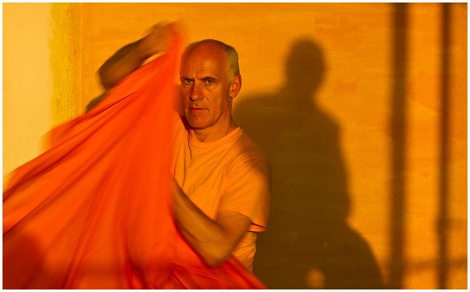 Der Swami sein Umhang und die Abendsonne.