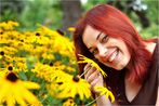 Der Tag ist schöner mit dem Lächeln der kleinen Blumenprinzessin