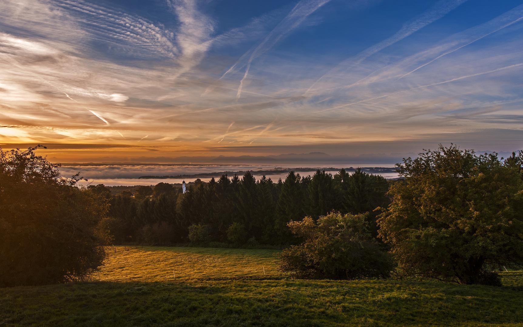 Der Tag kommt - Ilkahöhe mit Blick auf den Starnberger See