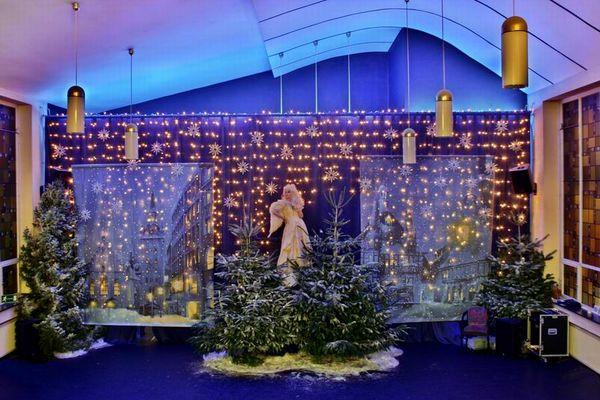 Der Tanztempel zu Weihnachten