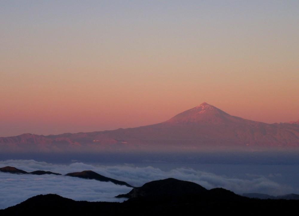 Der Teide am Abend - vom Garajonay aus gesehen