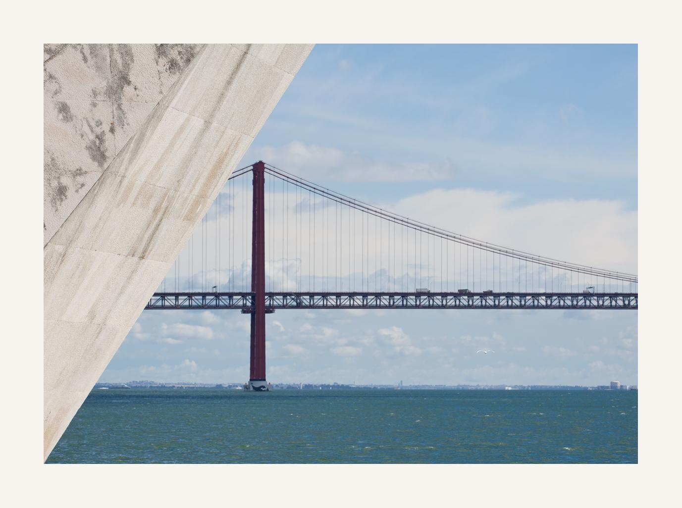 der Tejo und die Brücke