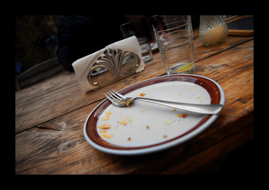 ___Der Teller ist leer__